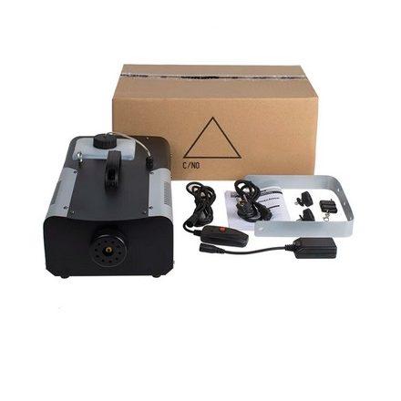 Füstgép 1500W-os RGB világítással vízszintes kilövéssel!